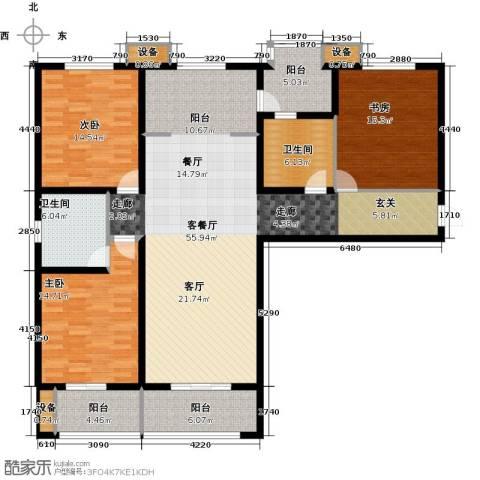 怀特翰墨儒林3室1厅2卫0厨148.00㎡户型图