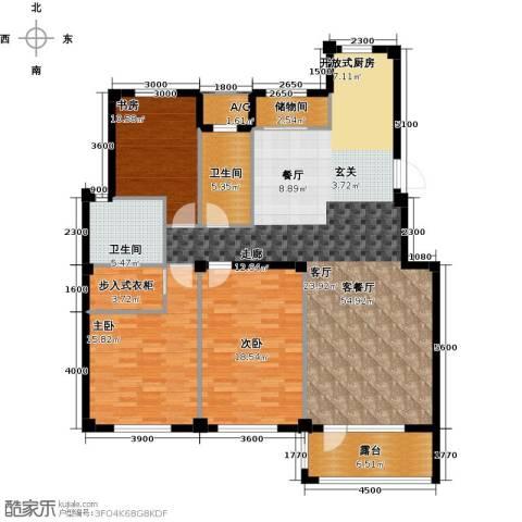 缇香漫城3室1厅2卫0厨159.00㎡户型图