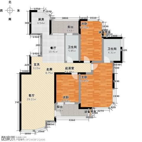 锦上华庭铭邸3室0厅2卫0厨134.00㎡户型图