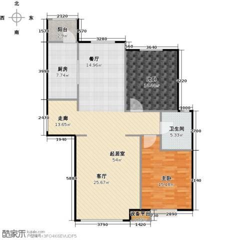 北环盛世2室0厅1卫1厨108.00㎡户型图