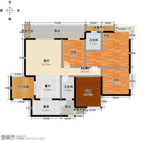 锦上华庭铭邸4室0厅2卫1厨128.40㎡户型图