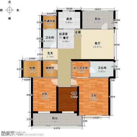 苏纶里3室0厅2卫1厨137.00㎡户型图