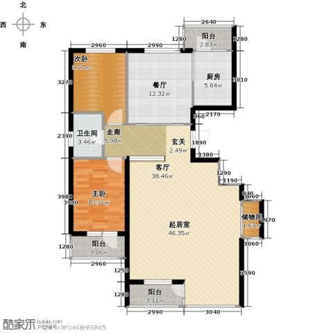 万锦民悦2室1厅1卫1厨136.00㎡户型图