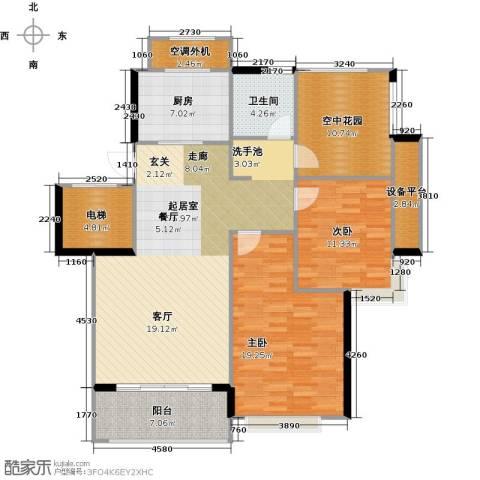 苏纶里2室0厅1卫1厨117.00㎡户型图