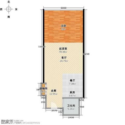 长安公馆1卫0厨112.00㎡户型图