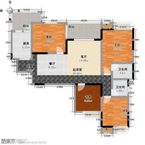 西城国际4室0厅2卫1厨151.00㎡户型图