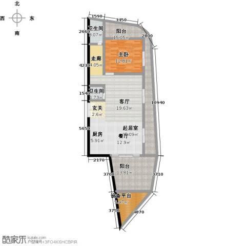 钻石海岸1室0厅2卫0厨112.44㎡户型图