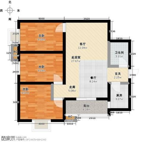 景都3室0厅1卫1厨116.00㎡户型图