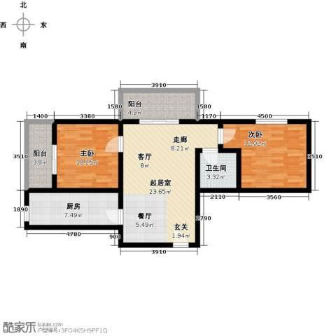 景都2室0厅1卫1厨94.00㎡户型图