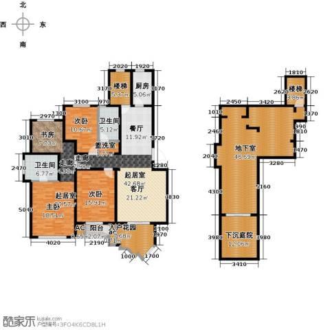 信达尚城2室0厅2卫1厨195.87㎡户型图
