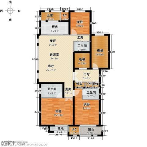 华润置地橡树湾3室0厅3卫1厨140.00㎡户型图