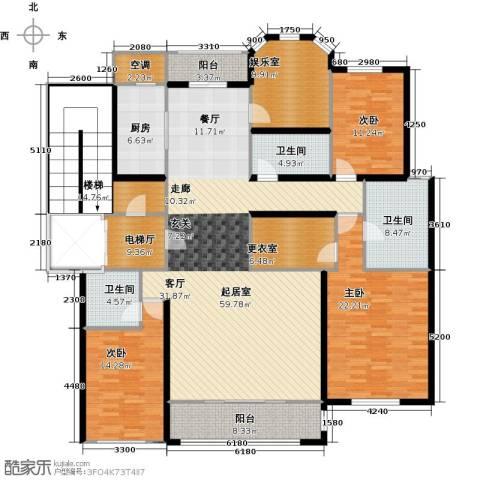 君熙太和3室0厅3卫1厨194.00㎡户型图