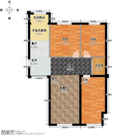 蓝山国际3室1厅1卫0厨119.00㎡户型图