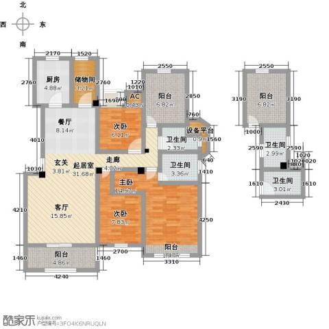 南山金城19583室0厅4卫1厨120.00㎡户型图