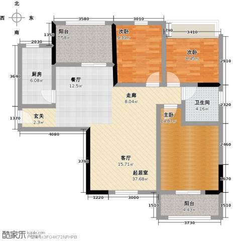 观澜御苑3室0厅1卫1厨111.00㎡户型图