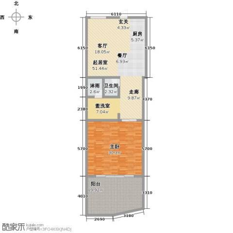 绿城蓝湾小镇1室0厅1卫0厨118.00㎡户型图