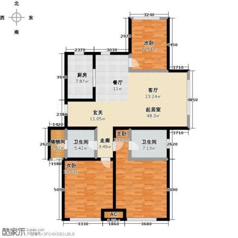 颐和星海3室0厅2卫1厨145.00㎡户型图