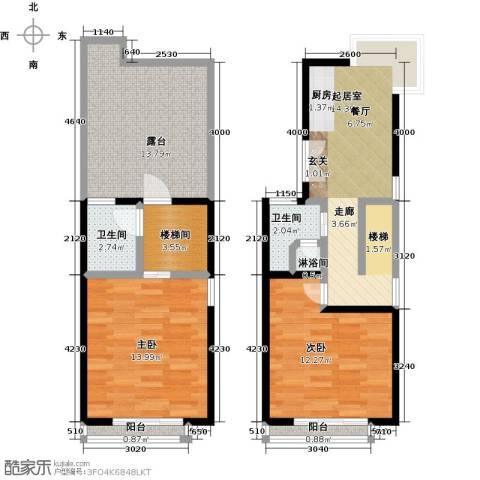 山水路8号2室0厅2卫0厨90.00㎡户型图