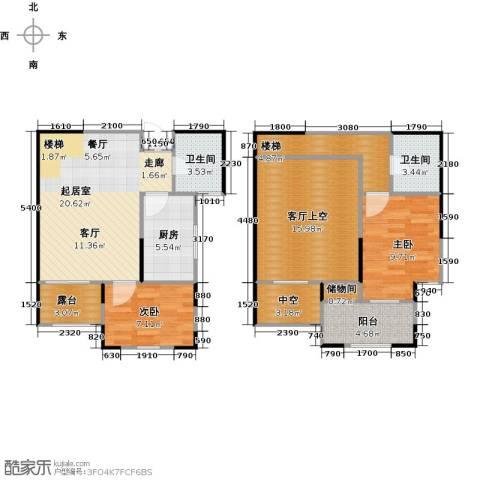 财信圣堤亚纳2室0厅2卫1厨90.00㎡户型图