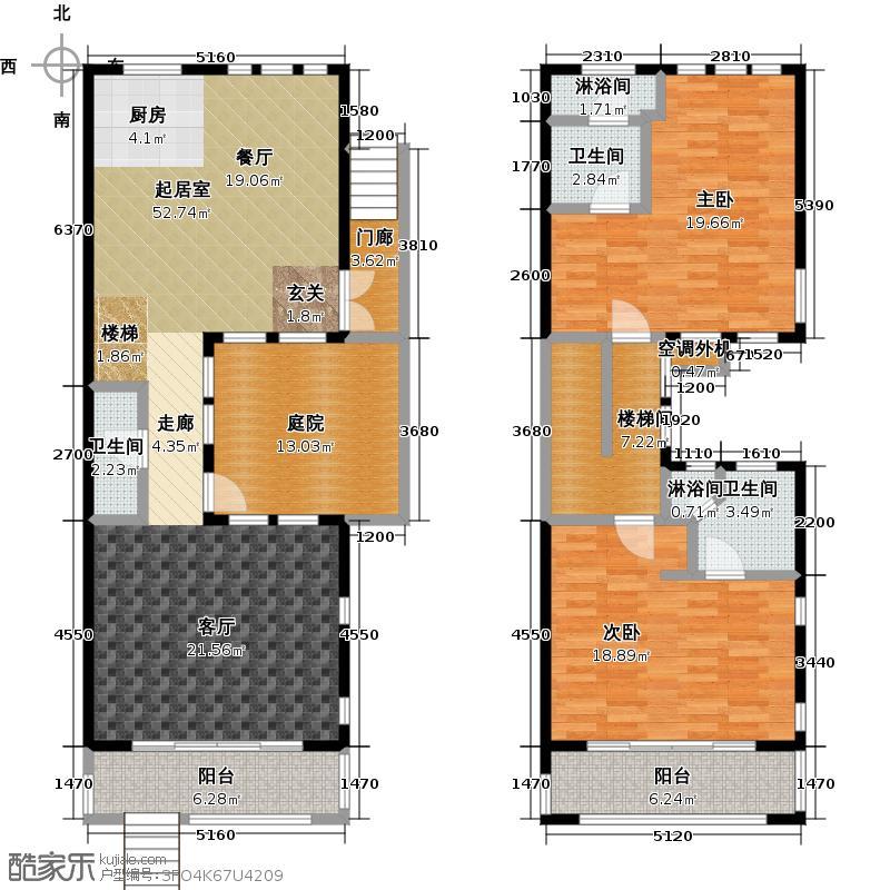 山水路8号151.95㎡C户型闪耀世家C户型2室2厅3卫