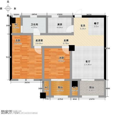 伟业迎春世家2室0厅1卫1厨89.00㎡户型图