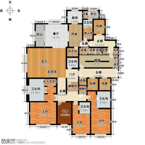 天津大都会4室0厅5卫1厨390.00㎡户型图
