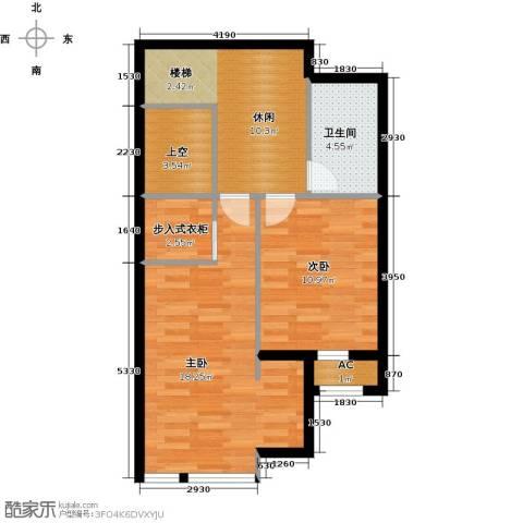保利金香槟2室0厅1卫0厨72.00㎡户型图