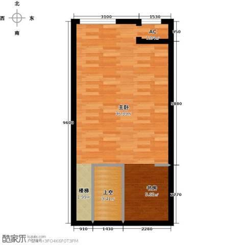 保利金香槟1室0厅0卫0厨55.00㎡户型图