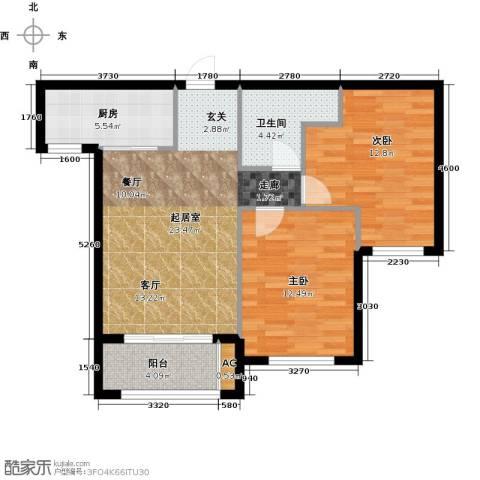 宇圣明珠2室0厅1卫1厨73.00㎡户型图