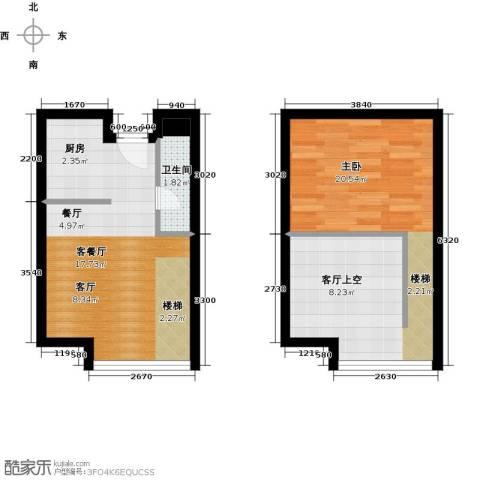 BOBO悠乐城1室1厅1卫0厨40.10㎡户型图