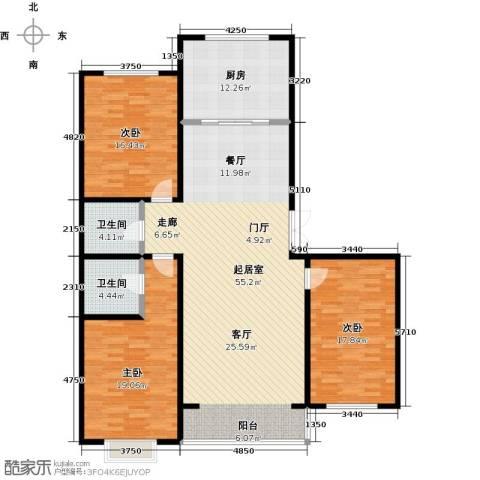 城市维也纳3室0厅2卫1厨142.00㎡户型图