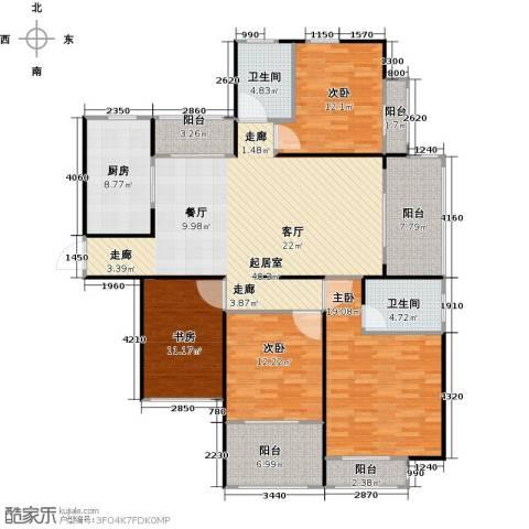 苏州首开常青藤4室0厅2卫1厨182.00㎡户型图