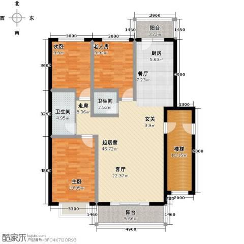 俪城3室0厅2卫0厨119.00㎡户型图