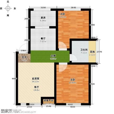 玩美天地2室0厅1卫1厨88.00㎡户型图