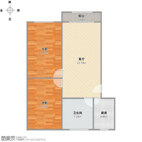 共康五村2室1厅1卫1厨87.00㎡户型图