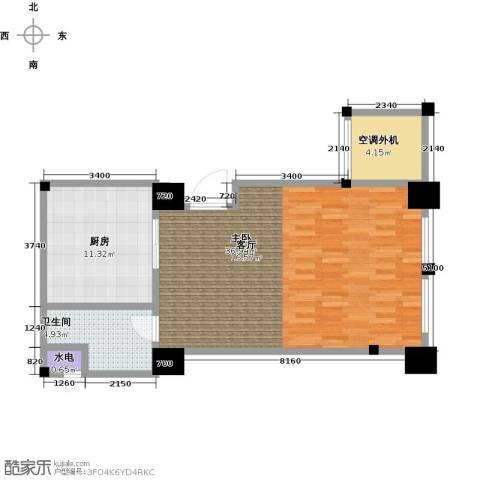新城帝景1室0厅1卫1厨68.00㎡户型图