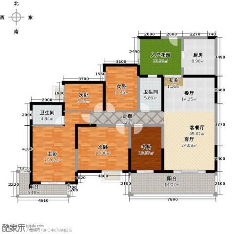 中珠・在水一方5室1厅2卫1厨196.00㎡户型图