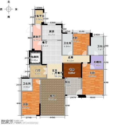 新城帝景4室1厅3卫1厨190.00㎡户型图