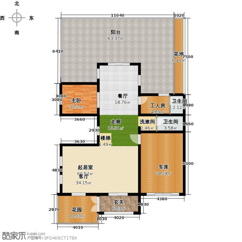 保利水韵长滩VS2一层123.53平方米户型