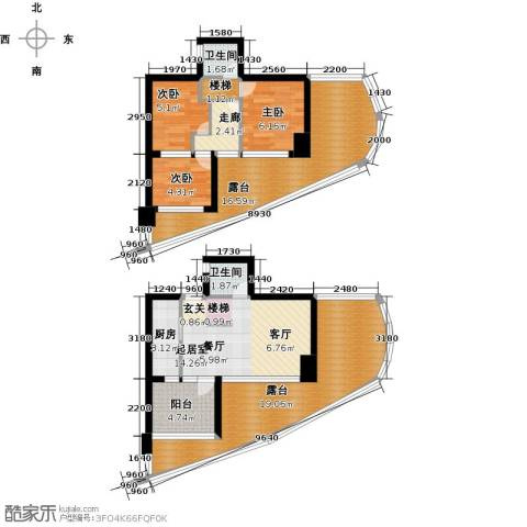 万泽国际3室0厅2卫1厨121.00㎡户型图