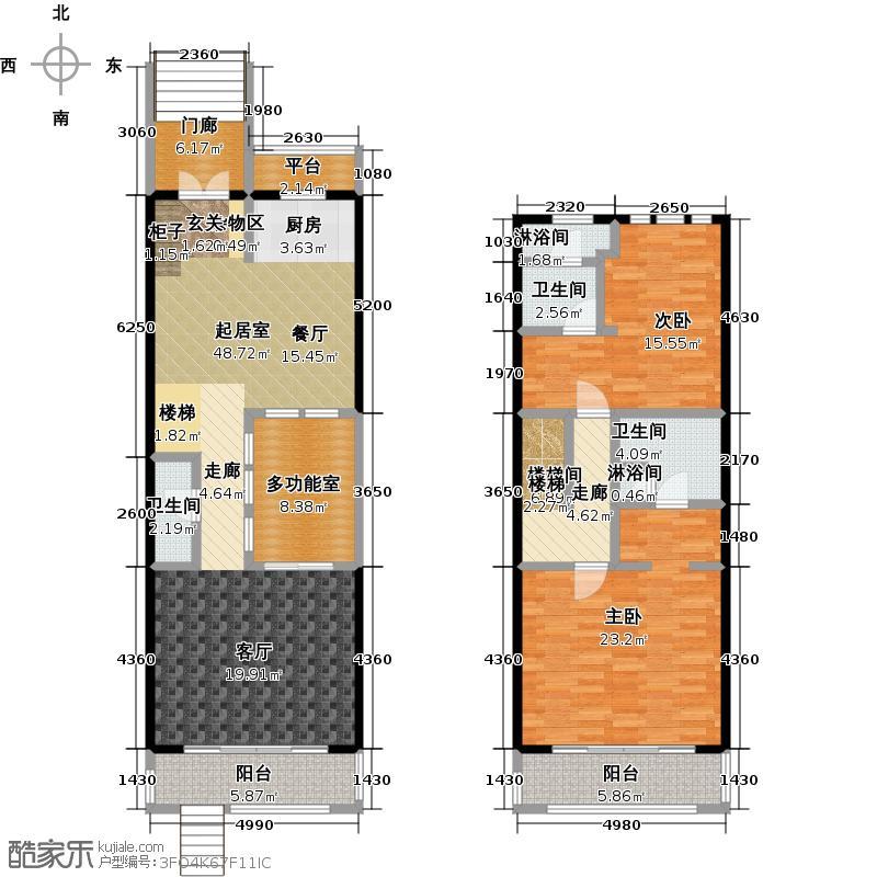 山水路8号163.72㎡皇冠明廷E户型2室2厅户型2室2厅3卫