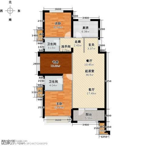 金地长青湾2室0厅2卫1厨104.21㎡户型图