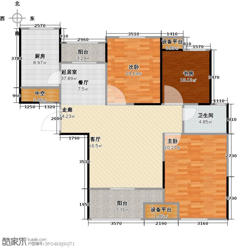 财信圣堤亚纳C3户型3室2厅1卫