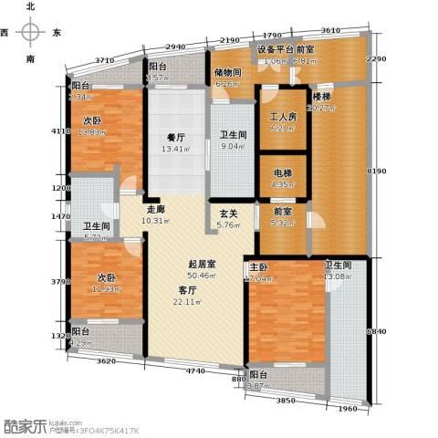 湖滨御景花园3室0厅3卫0厨229.00㎡户型图