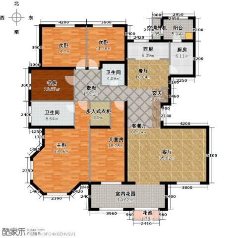 东岸国际5室1厅2卫1厨260.00㎡户型图