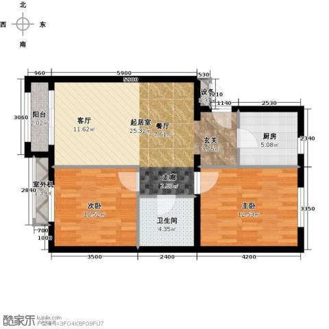 朱辛庄限价房2室0厅1卫1厨79.00㎡户型图