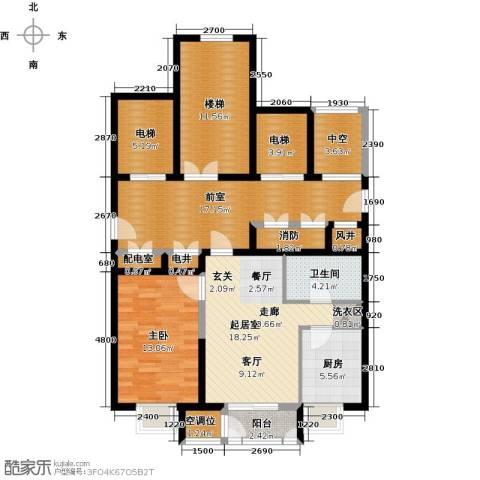 天房美域豪庭1室0厅1卫1厨134.00㎡户型图