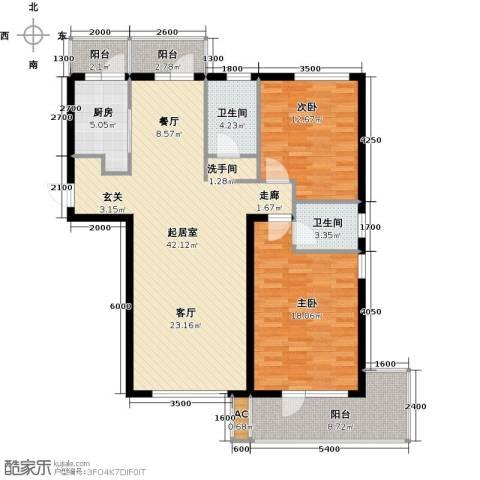 一等海2室0厅2卫1厨140.00㎡户型图