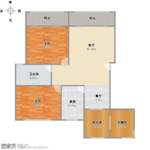 梧桐城邦二期2室1厅1卫1厨168.00㎡户型图