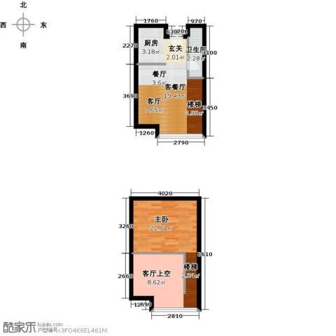 BOBO悠乐城1室1厅1卫0厨44.32㎡户型图